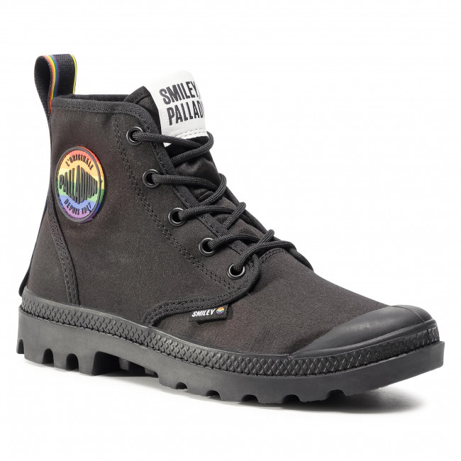 Turistická obuv PALLADIUM -  Pampa Smiley Pride 76879-008-M  Black/Black