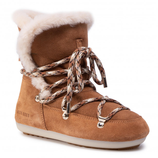 Sněhule MOON BOOT - Dk Side High Shearling 24300100001  Whisky/Off White