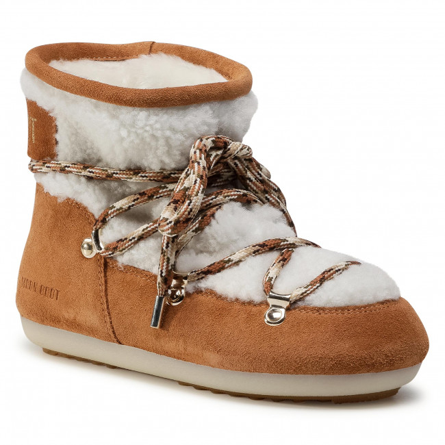 Sněhule MOON BOOT - Dk Side Low Shearling 24300500001 Whisky/Off White