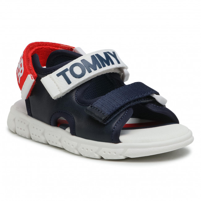 Sandály TOMMY HILFIGER - Velcro Sandal T1B2-31106-0289 S Blue/White/Red Y004