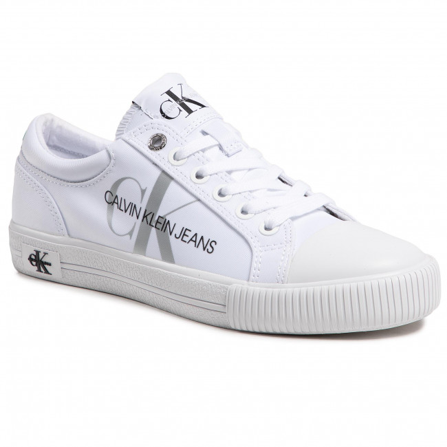 Plátěnky CALVIN KLEIN JEANS - Vulcanized Sneaker Laceup Pes YW0YW00043 Bright White