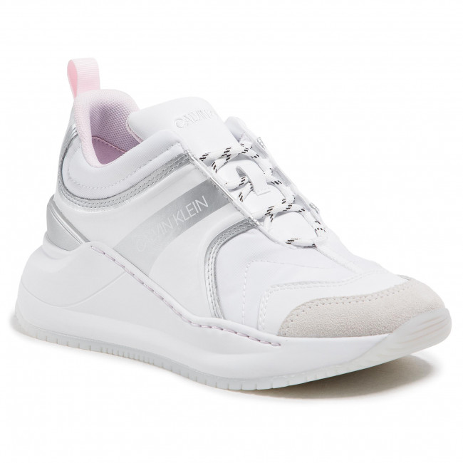 Sneakersy CALVIN KLEIN JEANS - Runner Sneaker Laceup Ny-Lth YW0YW00166  Bright White YAF