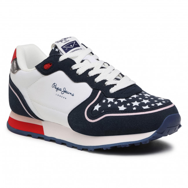Sneakersy PEPE JEANS - Klein Stars Girl PGS30496 Navy 595