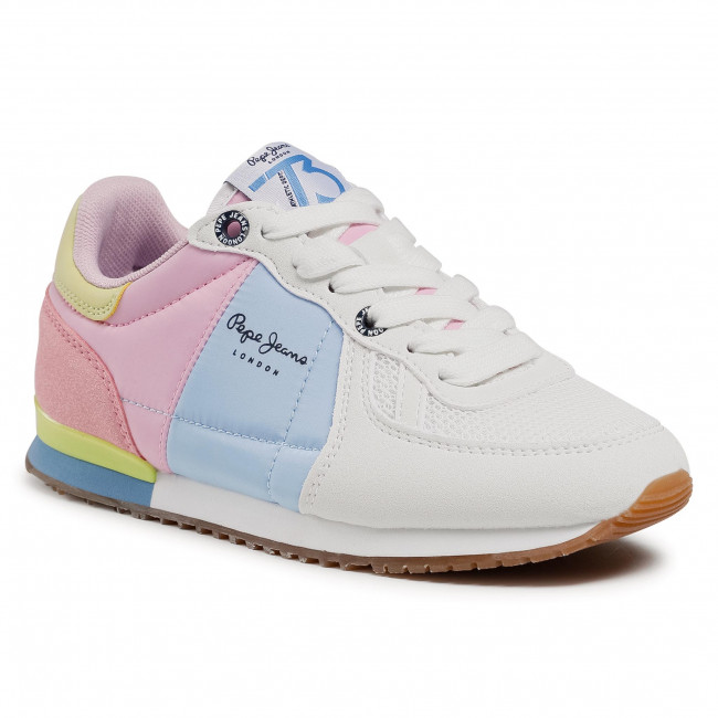 Sneakersy PEPE JEANS - Sydney Basic Girl PGS30497 Factory White 801