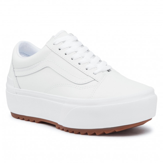 Tenisky VANS - Old Skool Stacked VN0A4U15OER1 (Leather) Truewht/Truewht