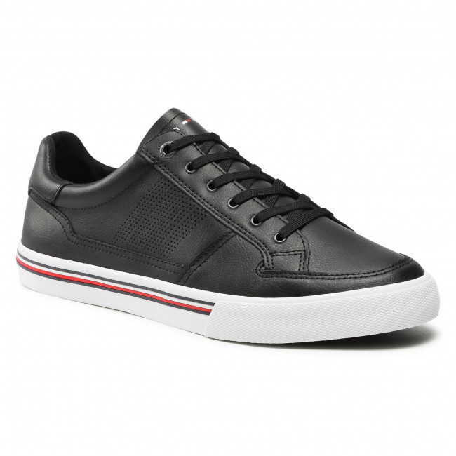 Sneakersy TOMMY HILFIGER - Core Corporate Leather Sneaker FM0FM03393 Black BDS