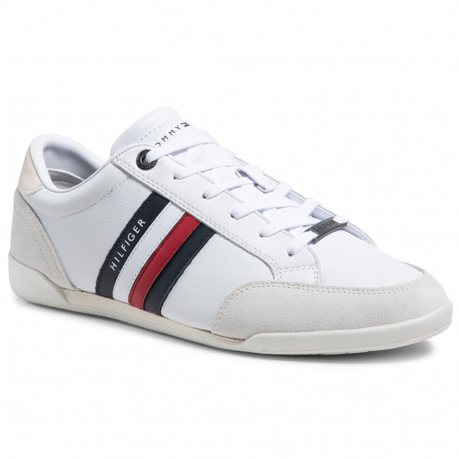 Sneakersy TOMMY HILFIGER - Corporate Material Mix Cupsole FM0FM03429 White YBR
