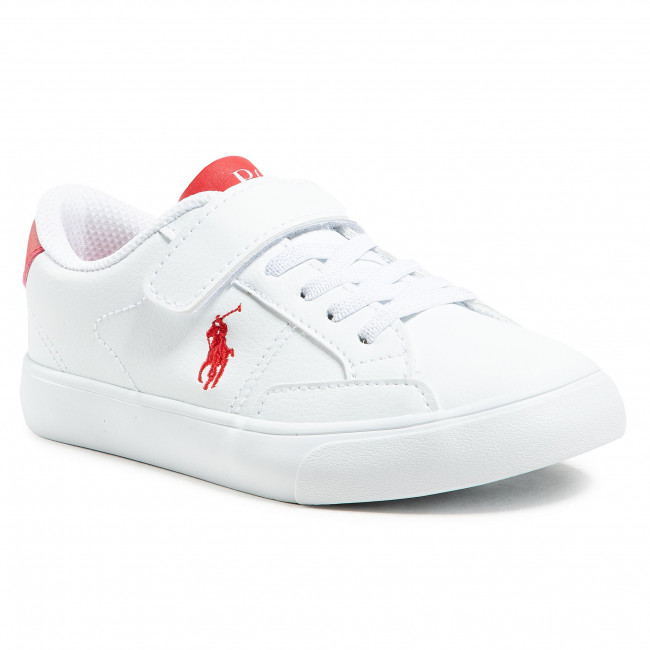 Sneakersy POLO RALPH LAUREN - Theron IV Ps RF102985 White/Red