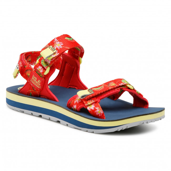 Sandály JACK WOLFSKIN - Outfresh Deluxe Sandal W 4039451-7828030 Tulip Red All Over