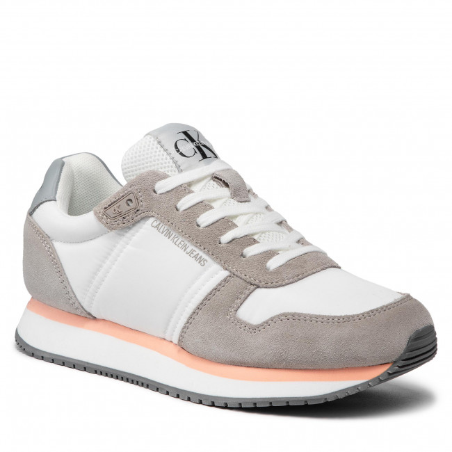 Sneakersy CALVIN KLEIN JEANS - Runner Laceup Sneaker Inst YW0YW00460 Bright White YAF