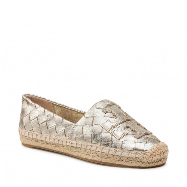 Espadrilky TORY BURCH - Ines Woven Espadrille 83133 Spark Gold/Spark Gold 700