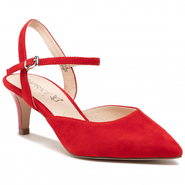 Sandály CAPRICE - 9-29603-24 Red Suede 901