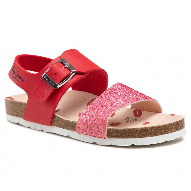 Sandály PEPE JEANS - Bio Buckle PGS90149 Red 255