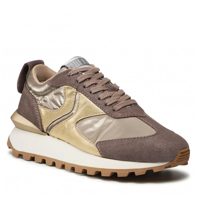 Sneakersy VOILE BLANCHE - Qwark 0012016141.08.1D42  Taupe/Platinum