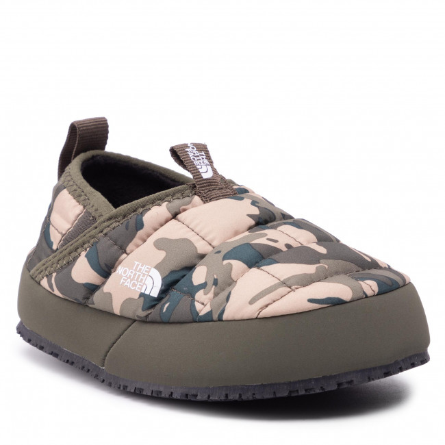 Bačkory THE NORTH FACE - Youth Thermoball Traction Mule II NF0A39UX28J1 New Taupe Green Explorer Camo Print/New Taupe Green