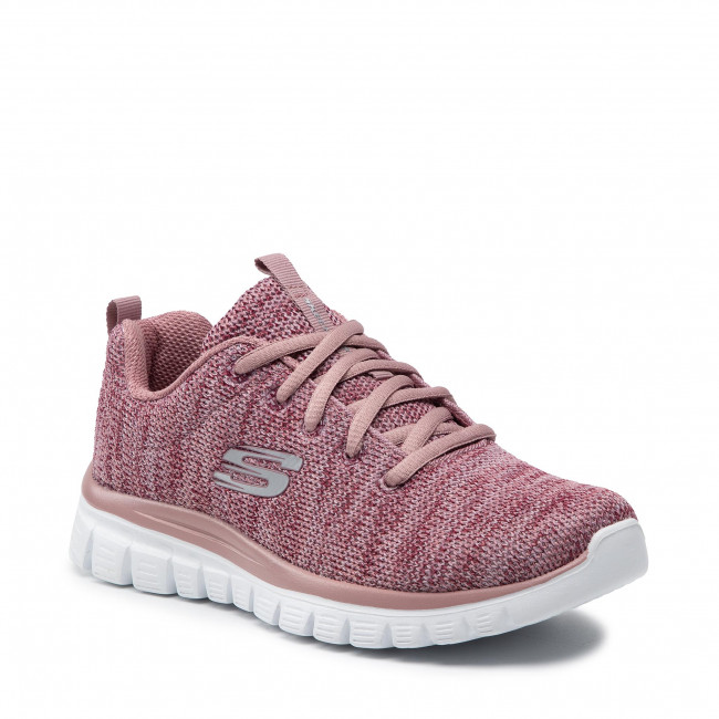 Boty SKECHERS - Twisted Fortune 12614/MVE Mauve
