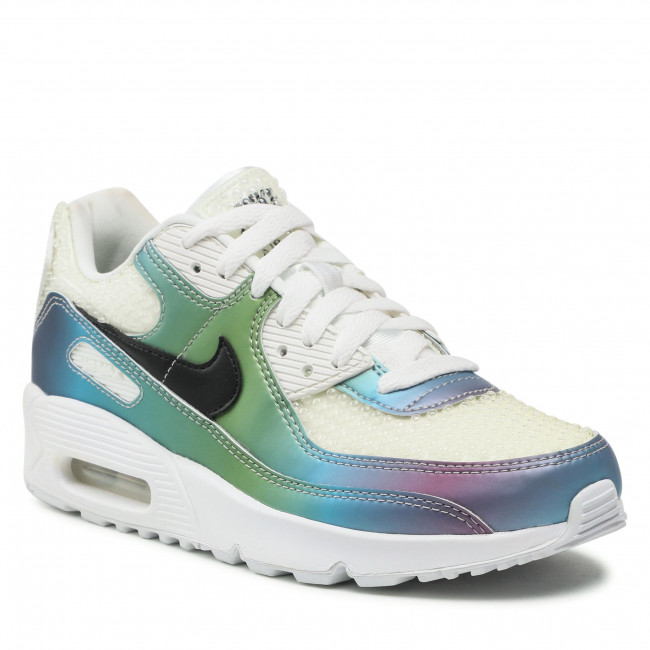Boty NIKE - Air Max 90 20 (GS) CT9631 100 Summit White/Black/Multi/Color