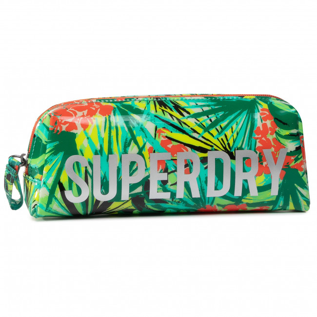 Penál SUPERDRY - Jelly Pencil Case W9810025A  Green Tropical