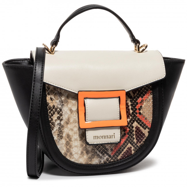 Kabelka MONNARI - BAG0470-M20 Black With Neon Orange