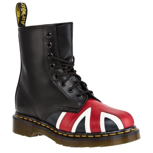 Glády DR. MARTENS - Union jack 8 Eye Boot 10950001 Black