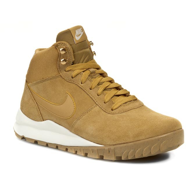 Polobotky NIKE - Hoodland Suede 654888 727 Haystock/ Light Brown/ Metallic Gold