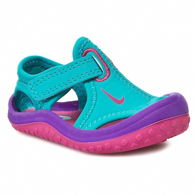 Sandály NIKE - Sunray Protect 344993 300 Turbo Green/Pink/Violet