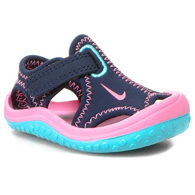 Sandály NIKE - Sunray Protect 344993 401 Midnight Navy/Pink Glow/Rose