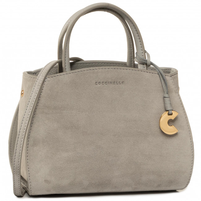Kabelka COCCINELLE - FSB Concrete Suede E1 FLB 55 01 01 Dolphin Y04