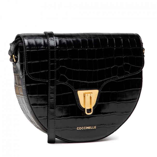 Kabelka COCCINELLE - IF3 Beat Croco Shiny So E1 IF3 15 01 01 Noir 001