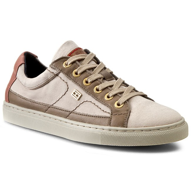 Polobotky TOMMY HILFIGER - Timberly 6C FW56819384 Sand/Rose Dawn 102