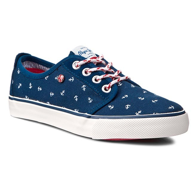 Tenisky PEPE JEANS - Traveler Anchor PBS30063 Factory Blue 560