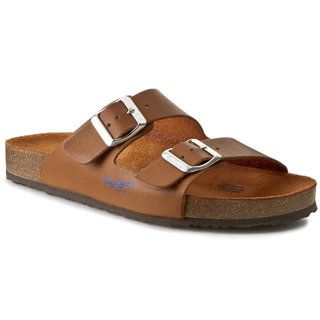 Nazouváky PEPE JEANS - Oban Two Buckles PLS10063 Cappuccino 875