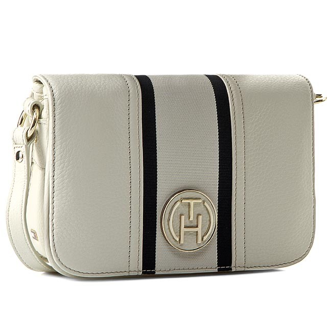 Kabelka TOMMY HILFIGER - Claire Flap Crossover BW56927410 Whisper White-PT 121
