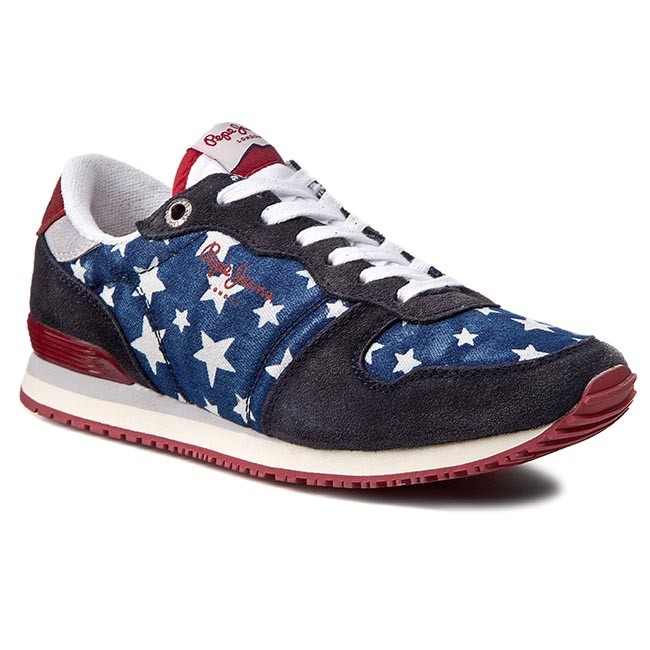 Sneakersy PEPE JEANS - Gable Fantasy PLS30141 Naval Blue 575