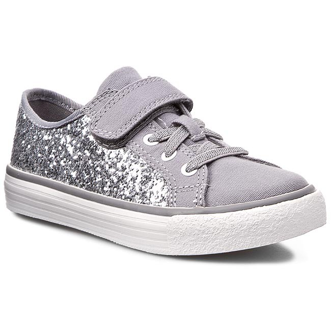 Polobotky CLARKS - BrillPrize Inf 261068696 Silver Synthetic