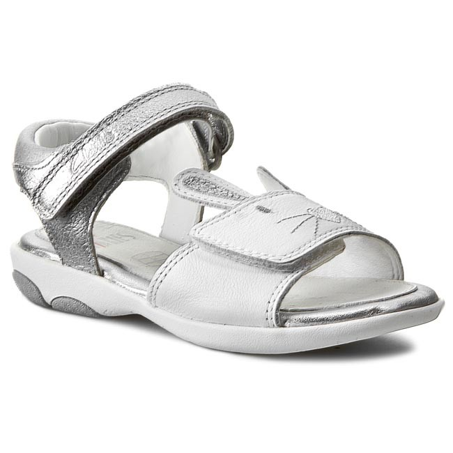 Sandály CLARKS - Wiggle Toes Inf 261068316 White Leather