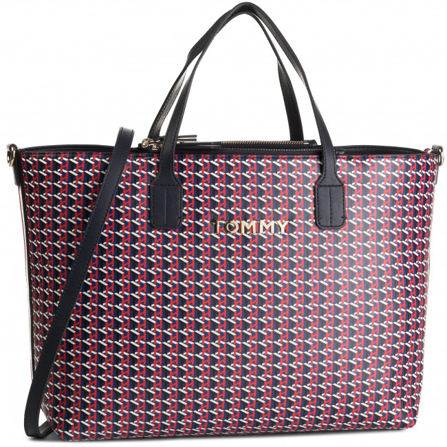 Kabelka TOMMY HILFIGER - Iconic Tommy Satchel Mono AW0AW07043 903