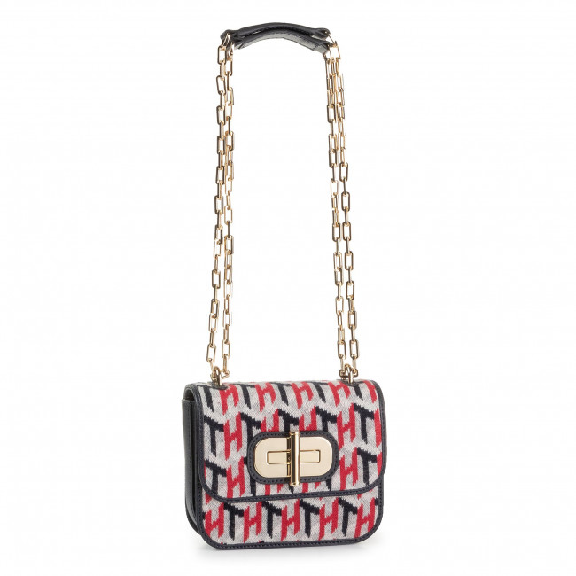 Kabelka TOMMY HILFIGER - Turnlock Mini Crossover Knitted AW0AW07420 0KY