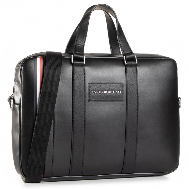 Brašna na notebook TOMMY HILFIGER - Th Metropolitan Computer Bag AM0AM06294 BLK