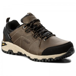 428cc3a3033 Trekingová obuv HI-TEC Bonete Low Wp AVSAW17-HT-01 Dark Brown Black
