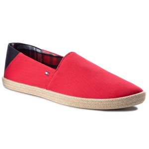 Espadrilky TOMMY HILFIGER - Easy Summer Slip On FM0FM00569 Tango Red 611 9ab237ba2e