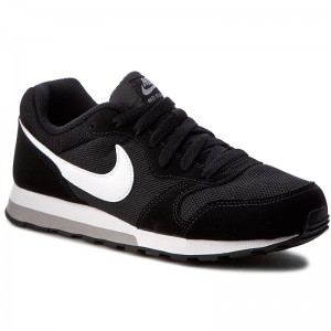 Boty NIKE Md Runner 2 (GS) 807316 001 Black White Wolf Grey bf72c694b8