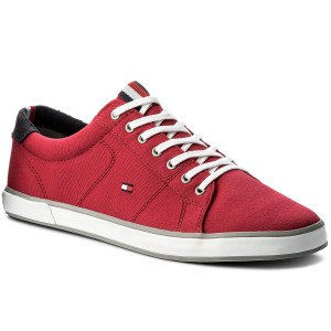 Tenisky TOMMY HILFIGER - Iconic Long Lace Sneaker FM0FM01536 Tango Red 611 22518ac10f