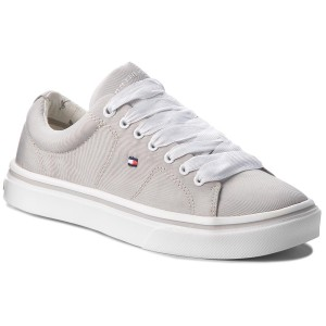 Sneakersy TOMMY HILFIGER - Metallic Light Weight Lace Up FW0FW03028 Diamond  Grey 001 693a365b5f