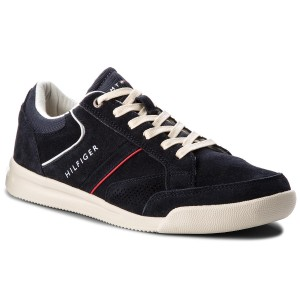 Sneakersy TOMMY HILFIGER - Corporate Detail Suede Sneaker FM0FM01622  Midnight 403 82574029448
