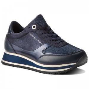Sneakersy TOMMY HILFIGER - Metallic Retro Runner FW0FW03337 Midnight 403 f94e002379