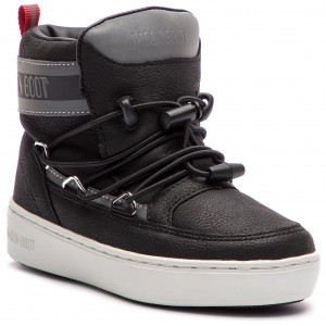 b39dba7d2e1 Kotníková obuv MOON BOOT - Pulse Jr Boy Detroit 34061000001 Black Silver