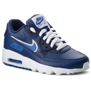 best service 0b1ce 45020 Boty NIKE Air Max 90 Ltr (GS) 833412 409 Blue Void Game Royal White