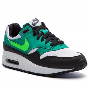 save off 60347 0f532 Boty NIKE - Air Max 1 (GS) 807602 111 White Green Strike