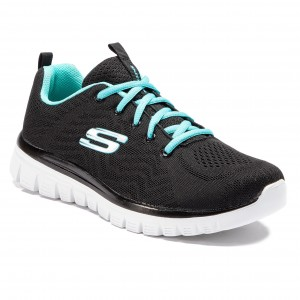905b79f030 Boty SKECHERS Get Connected 12615 BKTQ Black Turquoise